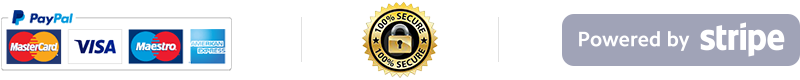 Secure payment with SSL - Verified PayPal and Stripe Partner